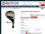 TaylorMade Raylor Hybrid RRP $299 NOW ONLY $115 + FREE Shipping
