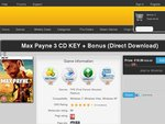 Max Payne 3 Key ONLY AUD$21.27