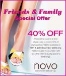 40% off Novo Shoes 19th and 20th December