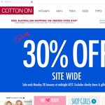30% off Cotton On Site Wide