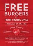 Free Burgers at Grill'd Carousel (WA) 10th May 11am - 3pm