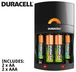 Duracell All-in-One Battery Charger+ 4 Rechargable Batteries $11.98 Delivered @ COTD