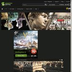 Civilization Series on Sale (up to 75% +25% off)