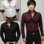 Men's Casual Long Sleeve Shirt 3 Colors 3 Sizes AU $9.77 Free Shipping @ AliExpress
