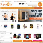 SUPPSRUS Protein & Supps - Extra 10%, Free Postage, Free Shaker
