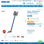 Dyson DC44 Animal Cordless Vacuum, $313.20 after Coupon Code + $10.00 Delivery @ Bing Lee
