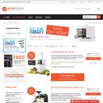Cold Press Juicers from under $200 (Click Frenzy) + Free Delivery + Free Ceramic Knife Set @ Slow Juicer