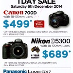 Canon 700D & Lens $499 (after $300 cashback), Nikon D5300 & Lens $689 (after $100 cashback) @ Camerahouse Hornsby NSW