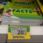 """Woolworths 20 Cents 'Animals of The World"""" Book"""