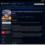 PS Store Deal of the Week Saints Row IV Gat Out Of Hell Bundle PS4 $44.95