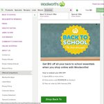 Woolworths $10 off ($100 Min Spend Online)