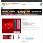 $19 off Valentine's Day Zojirushi Stainless Steel Vacuum Flask Bundle ($132 + $15 Shipping) @ Rice Cooker World