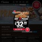 Domino's Pizza 40% off Whole Order Menu Price (Today Only)