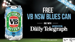 Limited Edition VB Blues Can with The Saturday Telegraph Purchase ($2.20) [NSW/ACT]