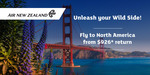 Air NZ: SYD↔LAX from $928, SYD↔SFO from $926, SYD↔IAH from $926. Booking Via Skiddoo