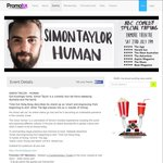 [SYD] COMEDY - Simon Taylor @ The Enmore Theatre - 2 Free Tickets + $5.95 Bf (Save over $50) @ Promotix