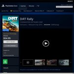 PS4 DiRT Rally $44.95 (with PS+) $54.95 (without PS+) @ AU PSN store