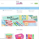 """Order Any Labels Pack (Excluding Iron-on Pack), Receive an Extra 26pc """"Back-to-School"""" Name Label Sheet @ Kidz Labels"""