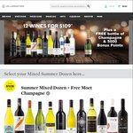 Cellarmasters Summer Wine Dozen for $100.20 with FREE Moët and 5000 Woolworths Rewards Points