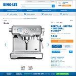 Breville BES920 The Dual Boiler Espresso Maker $721.65 & BCG820BSS Smart Grinder Pro $194.65 @ Bing Lee Online