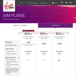 Virgin Mobile SIM Only (12mth Plan) $50/M (Velocity Members $45/M), 17GB, Unlimited Calls/Txt, $300 International