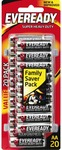 Eveready Super Heavy Duty AA 20pk - $5 @ The Good Guys [Free C&C]
