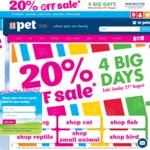 20% off PETstock Online & Instore