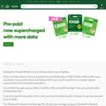 Woolworths Mobile Unlimited Calls & Texts, 1.5GB Data, 30 Day Expiry - $18 (Rewards Members)