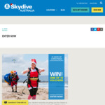Win 1 of 12 Tandem Skydive (15,000ft) Vouchers from Skydive