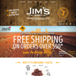 Free Shipping & Free 50g Bag of Jerky on All Orders $50 or More @ Jim's Jerky