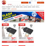 Flash Memory Sale (Free Delivery) E.g SanDisk Ultra Dual Drive 32GB OTG $9.95 @ Shopping Express