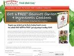 """$4 Gourmet Garden - """"4 Ingredients"""" - 250 Recipe Book Delivered"""