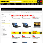 15% off on Computers (Dell, HP, Acer, Lenovo & Asus) @ JB Hi -Fi