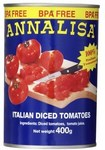 Annalisa Peeled or Diced Tomatoes 400g $0.67 @ Coles
