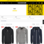 Up to 70% off on Men's Wear @ Connor (e.g Zip Hoodies/ Button up Shirts $19.99)