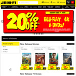 20% off Blu-Ray, DVD and 4K Blu-Ray @ JB Hi-Fi