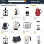 Amazon AU Appliance Sale: E.G Kmix Hand Blender $48.99, Delonghi Kettle $16.49, Dolce Gusto $27.99, Tefal Steamer $43.99 (SO)
