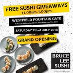 [VIC] Free Sushi + 50% off Menu Today from 11AM-1PM @ Bruce Lee Sushi (Westfield Fountain Gate)