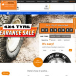 15% off Select 4x4 Tyres + Free Delivery and Fitment at Tyresales
