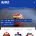 Molten 25% off Everything - Cyber Monday Sale