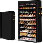 50 Pairs 10 Tiers Portable Steel Stackable Shoe Rack Black $18 + Delivery @ After7