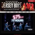 Jersey Boys, Brisbane & Melbourne, $75 for 75 Hours