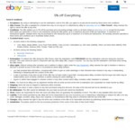 5% off Sitewide ($70 Min Spend, $50 Max Discount, 3 Transactions Per Account) @ eBay