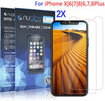 2x Genuine Nuglas Tempered Glass Screen Protector Guard for iPhone (X, 8, 7, 6, 6S Plus) $3.99 Delivered @ Shopro