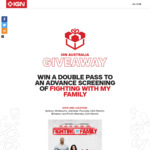 Win 1 of 275 Double Passes to a Preview Screening of Fighting With My Family (Ade/Bris/Melb/Per/Syd) Worth $40 from Ziff Davis