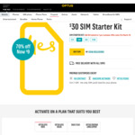 Optus $30 Starter Kit Now $9. 35GB First Three Recharges. Free Delivery @ Optus