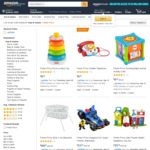 30% off Range of Infant and Toddler Toys - Free Delivery with Prime at Amazon AU