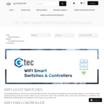 New Version - Ctec Wi-Fi Switches, Dimmers, Fan Controllers 2 Way Control from $119 (10% off /W Code) + Free Shipping @ Lectory