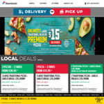 Any Premium or New Yorker Pizza $10 Pick up @ Domino's (via Offers App, Selected Stores Only)