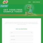 Free Milo 30% Less Added Sugar Sample Delivered from Nestle